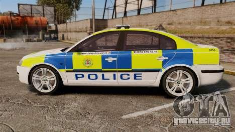 Skoda Superb 2006 Police [ELS] Whelen Justice для GTA 4 вид слева