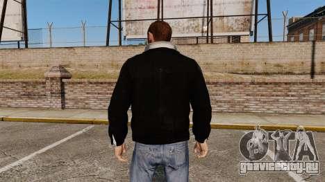 Чёрная кожаная куртка для GTA 4 второй скриншот