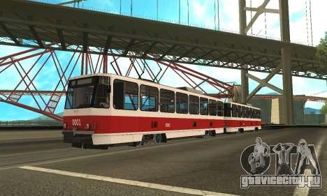 Tatra T6B5 для GTA San Andreas вид слева