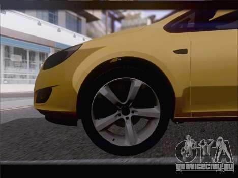Opel Astra J 2011 для GTA San Andreas вид сбоку