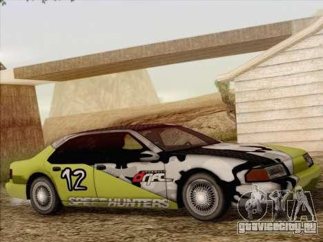 Fortune Sedan для GTA San Andreas вид сбоку