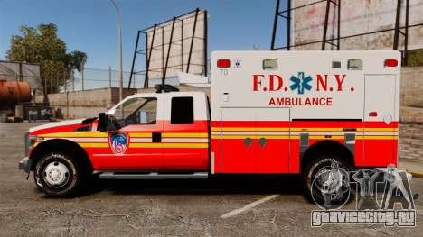 Ford F-350 2013 FDNY Ambulance [ELS] для GTA 4 вид слева