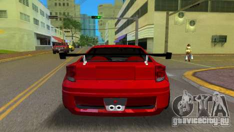 Toyota Celica XTC для GTA Vice City вид сзади слева