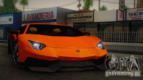 Lamborghini Aventador LP 700-4 RENM Tuning для GTA San Andreas вид сзади
