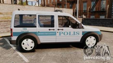 Ford Transit Connect Turkish Police [ELS] для GTA 4 вид слева