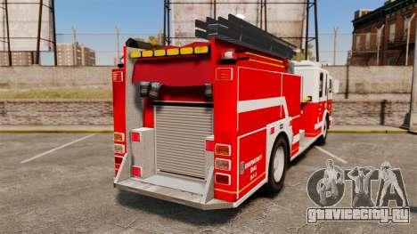 Firetruck Alderney [ELS] для GTA 4 вид сзади слева