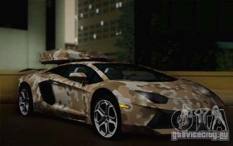 Lamborghini Aventador LP 700-4 Camouflage для GTA San Andreas