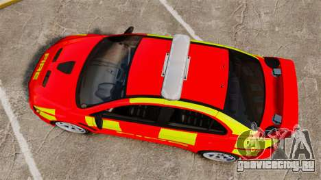 Mitsubishi Lancer Evo X Fire Department [ELS] для GTA 4 вид справа