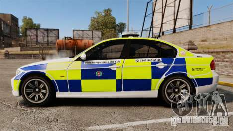 BMW 330i Hampshire Police [ELS] для GTA 4 вид слева