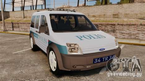 Ford Transit Connect Turkish Police [ELS] для GTA 4