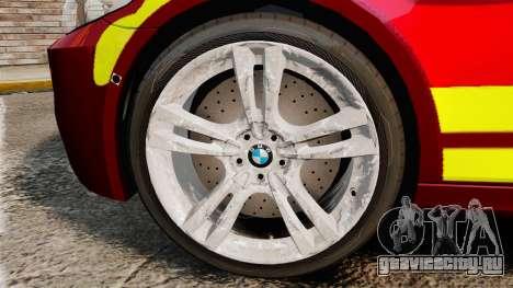 BMW M5 West Midlands Fire Service [ELS] для GTA 4 вид сзади