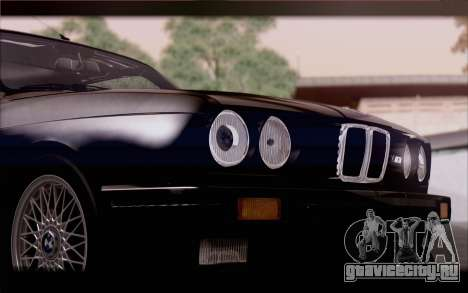 BMW M3 E30 Stock Version для GTA San Andreas вид сзади
