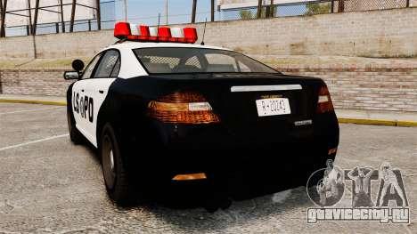 GTA V Vapid Police Interceptor LSPD для GTA 4 вид сзади слева