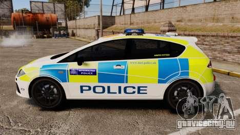 Seat Cupra Metropolitan Police [ELS] для GTA 4 вид слева