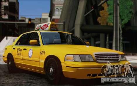 Ford Crown Victoria LA Taxi для GTA San Andreas вид сзади слева