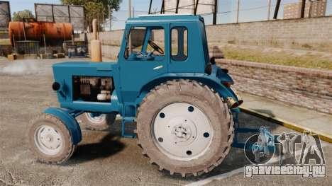 Трактор МТЗ-80 для GTA 4 вид слева