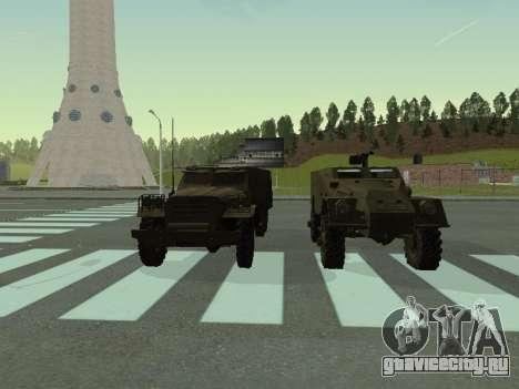 БТР-40 для GTA San Andreas салон