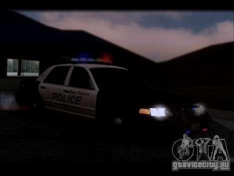 Ford Crown Victoria 2005 Police для GTA San Andreas салон