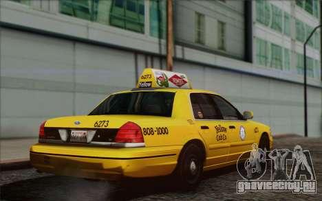 Ford Crown Victoria LA Taxi для GTA San Andreas вид слева