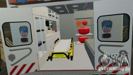 Ford F-350 2013 FDNY Ambulance [ELS] для GTA 4 вид сзади