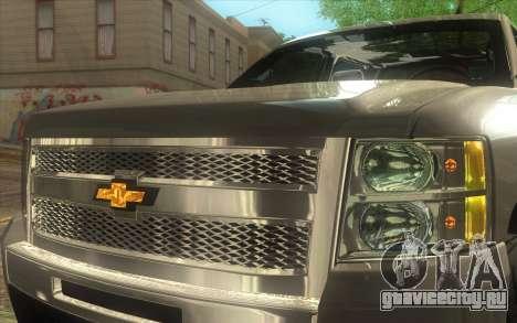 Chevrolet Cheyenne LT 2012 для GTA San Andreas вид сзади