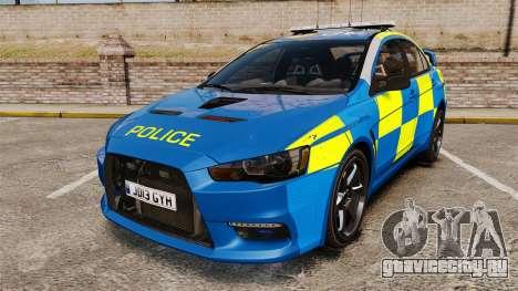 Mitsubishi Lancer Evo X Humberside Police [ELS] для GTA 4