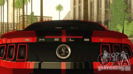 Ford Shelby GT500 2013 для GTA San Andreas вид сзади