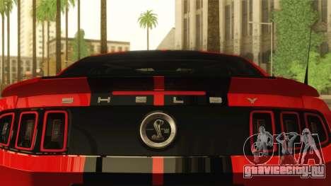 Ford Shelby GT500 2013 для GTA San Andreas вид сзади