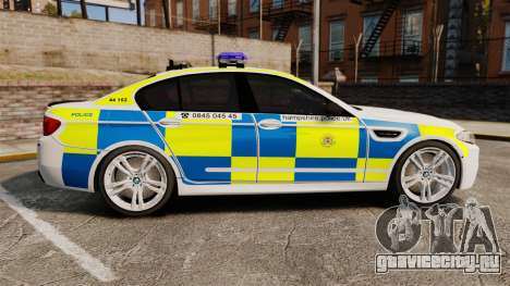 BMW M5 Marked Police [ELS] для GTA 4 вид слева