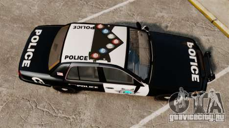 Ford Crown Victoria Liberty State Police для GTA 4 вид справа
