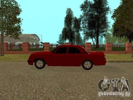 ГАЗ 31105 Волга для GTA San Andreas вид сзади слева