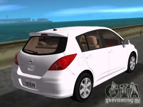 Nissan Tiida для GTA Vice City вид слева