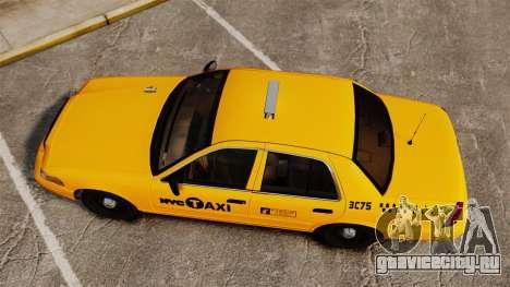 Ford Crown Victoria 1999 NYC Taxi для GTA 4 вид справа