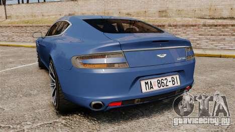 Aston Martin Rapide 2010 для GTA 4 вид сзади слева