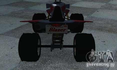 GTA 5 Blazer ATV для GTA San Andreas вид сзади слева