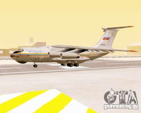 Ил-76ТД МЧС России для GTA San Andreas вид сзади слева