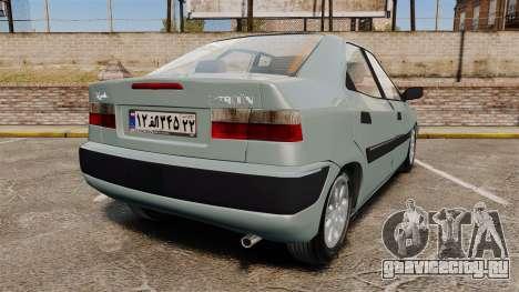 Citroen Xantia 1999 для GTA 4 вид сзади слева