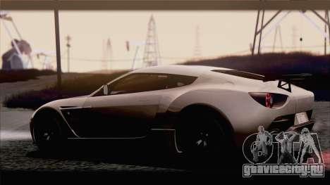 Aston Martin V12 Zagato 2012 [IVF] для GTA San Andreas вид справа