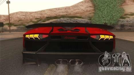 Lamborghini Aventador J 2012 v1.0 для GTA San Andreas вид сзади