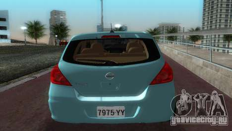 Nissan Tiida для GTA Vice City вид справа