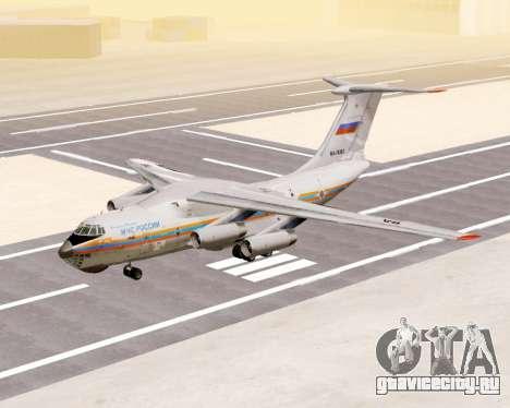 Ил-76ТД МЧС России для GTA San Andreas вид слева
