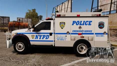 Ford F-550 2012 NYPD [ELS] для GTA 4 вид слева