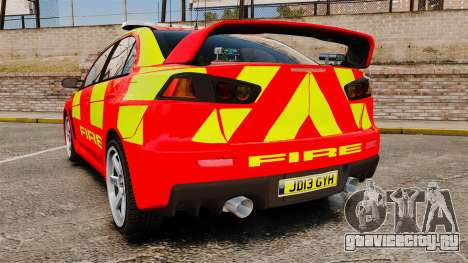 Mitsubishi Lancer Evo X Fire Department [ELS] для GTA 4 вид сзади слева