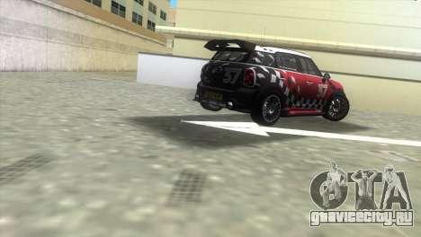 Mini Countryman WRC для GTA Vice City вид сзади слева