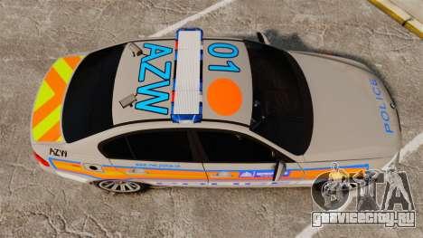 BMW 330 Metropolitan Police [ELS] для GTA 4 вид справа