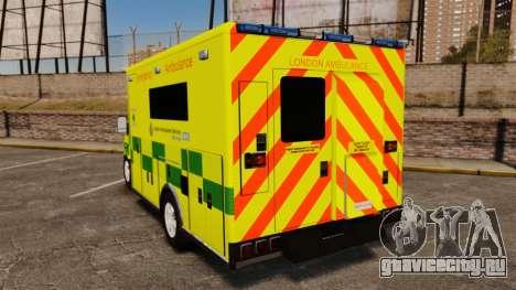 Mercedes-Benz Sprinter [ELS] London Ambulance для GTA 4 вид сзади слева