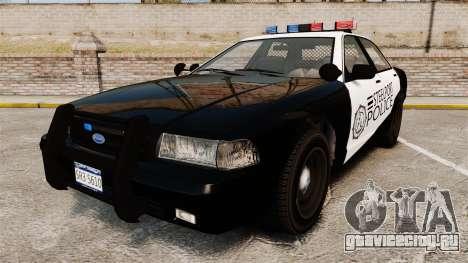 GTA V Vapid Steelport Police Cruiser [ELS] для GTA 4