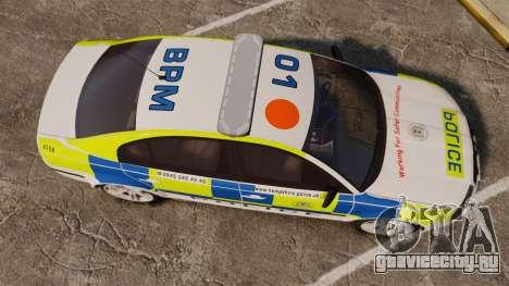 Skoda Superb 2006 Police [ELS] Whelen Justice для GTA 4 вид справа
