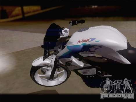 Honda CB150R StreetFire для GTA San Andreas вид справа