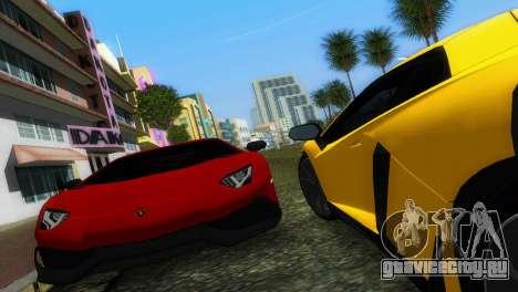 Lamborghini Aventador LP720-4 50th Anniversario для GTA Vice City вид сзади
